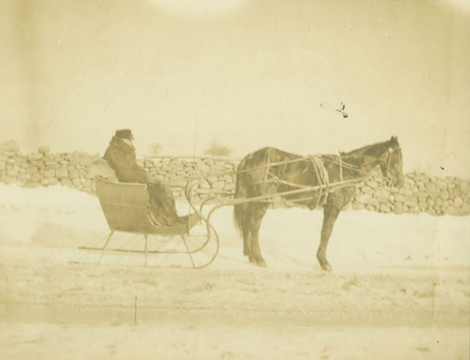 Photographs: Sleighing in Lyme
