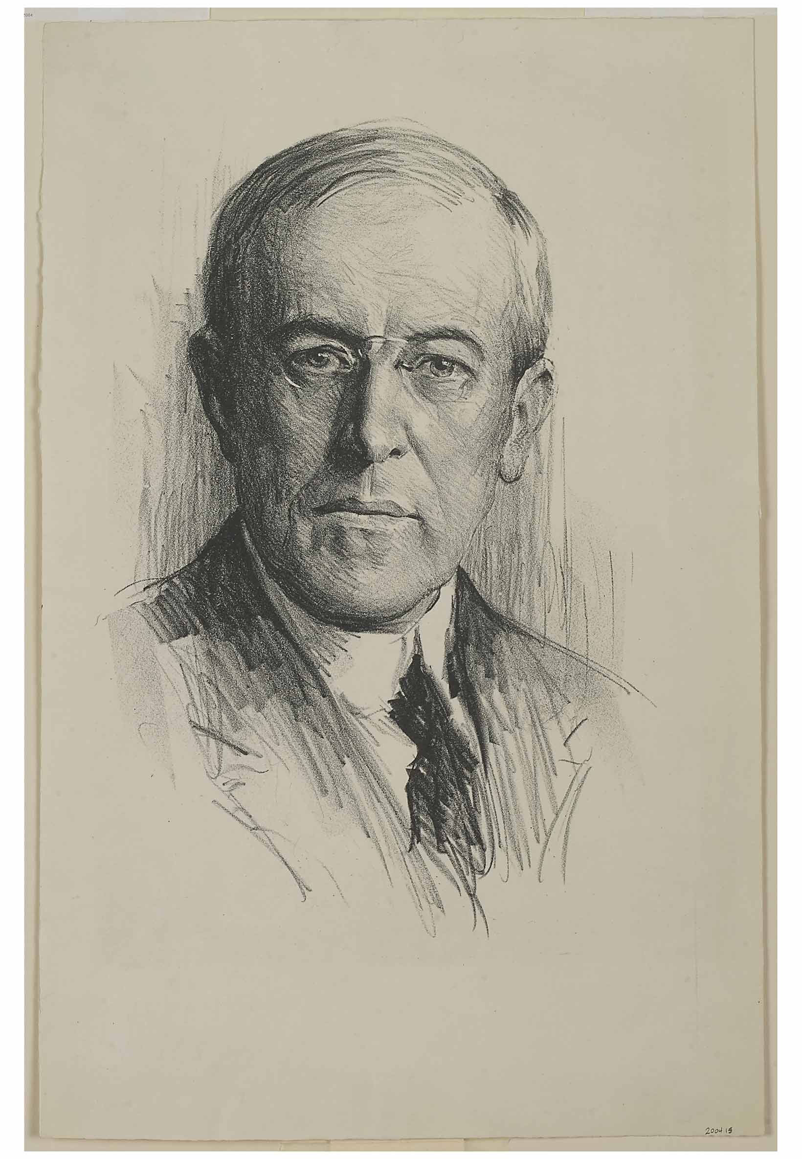artwork of former first lady ellen axson wilson in old lyme ct samuel j woolf 1880 1949 portrait of woodrow wilson ca 1910 20 lithograph on paper florence griswold museum gift of mr and mrs stuart p feld