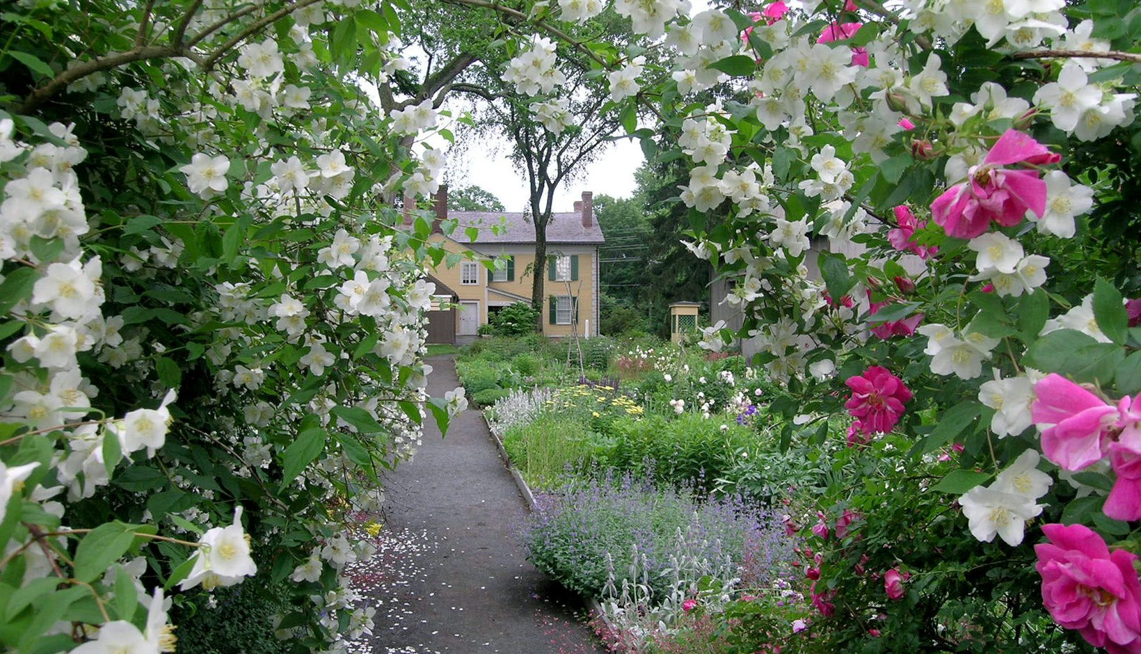 visit the gardens at the florence griswold museum of old
