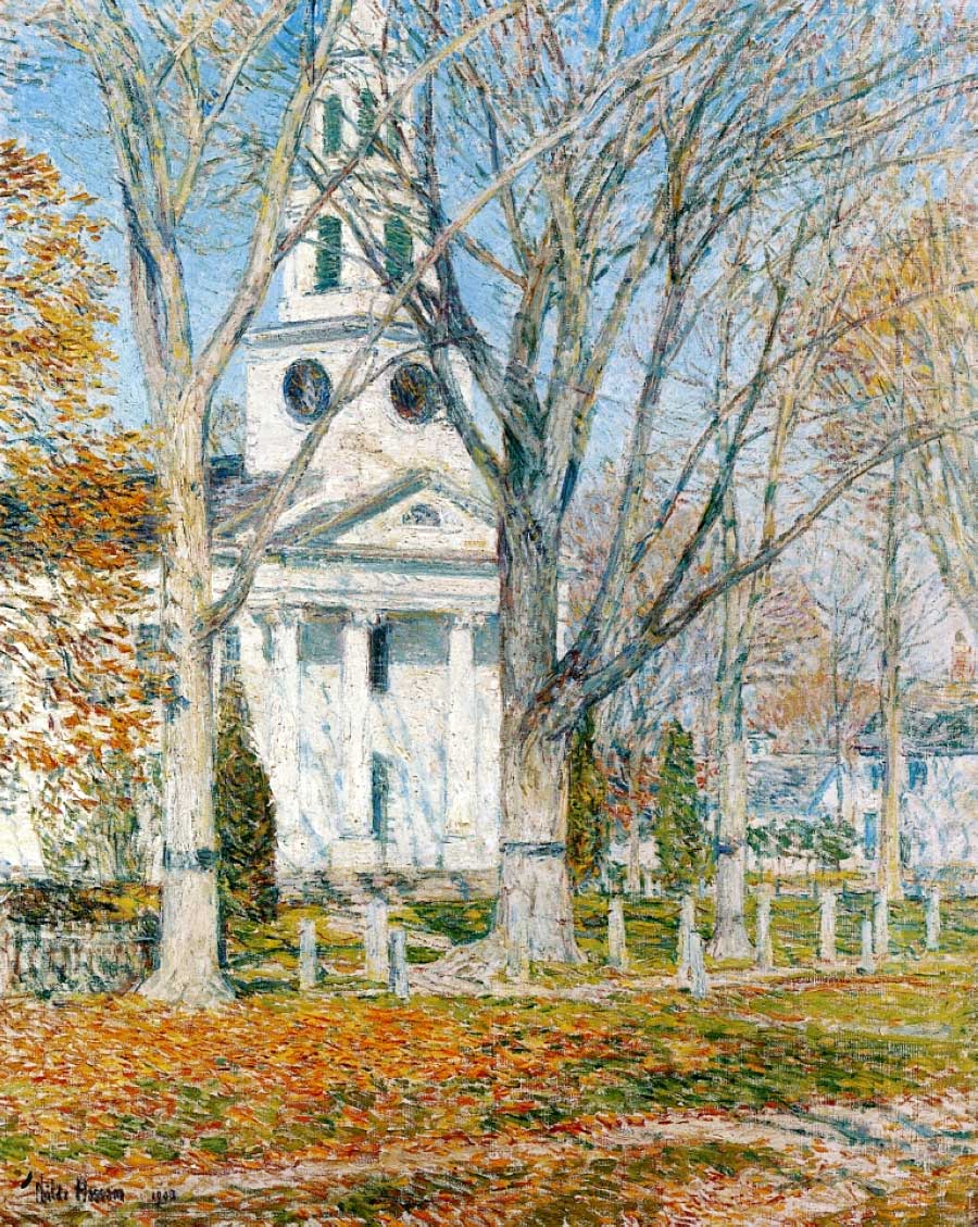 Childe_Hassam_1859-1935_Church_at_Old-Lyme_1905
