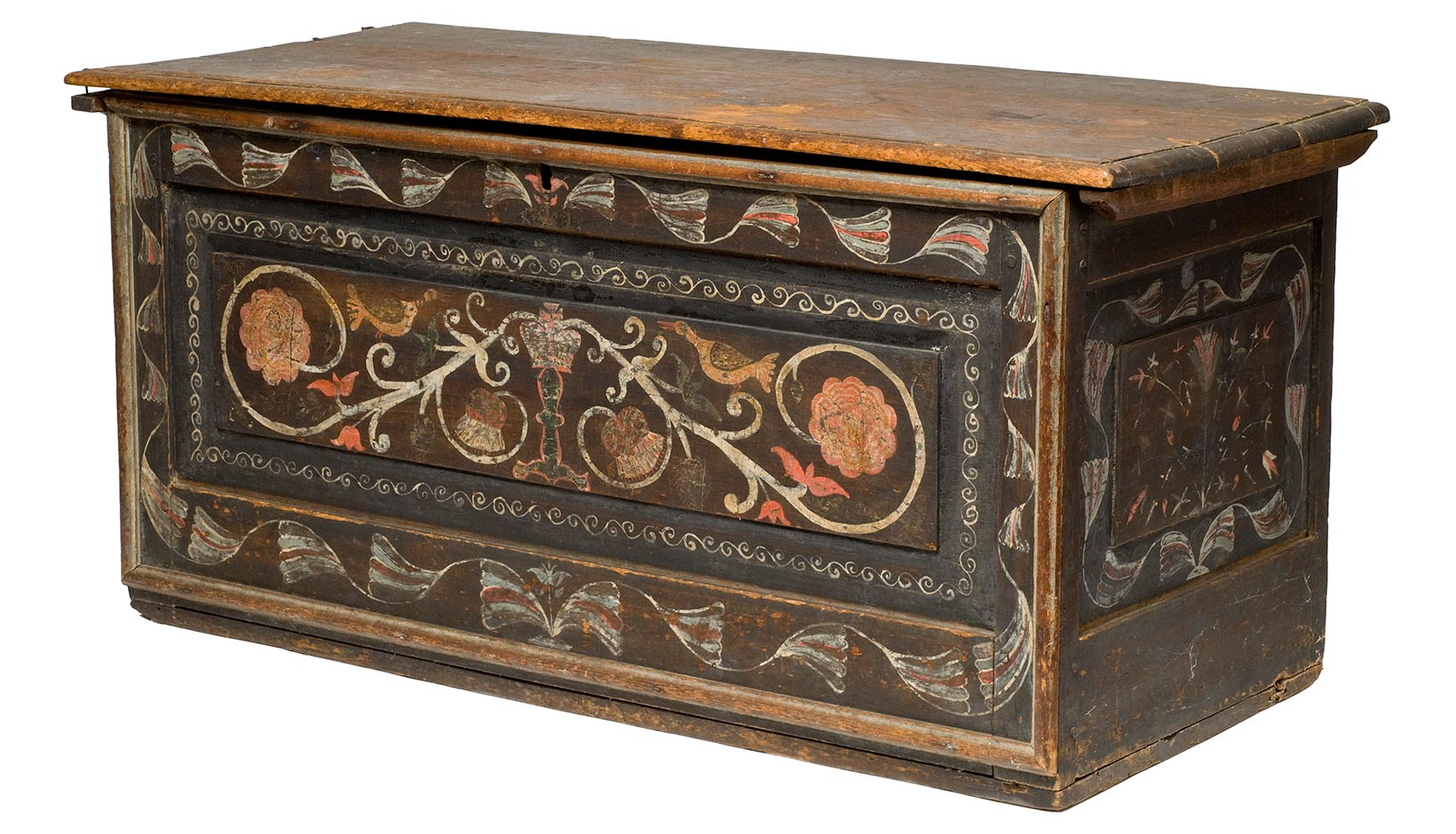 Gentil Between 1700 And 1740, A Small Group Of Craftsmen Created A Distinctive  Group Of Painted Wooden Chests In Saybrook And Guilford, Connecticut.