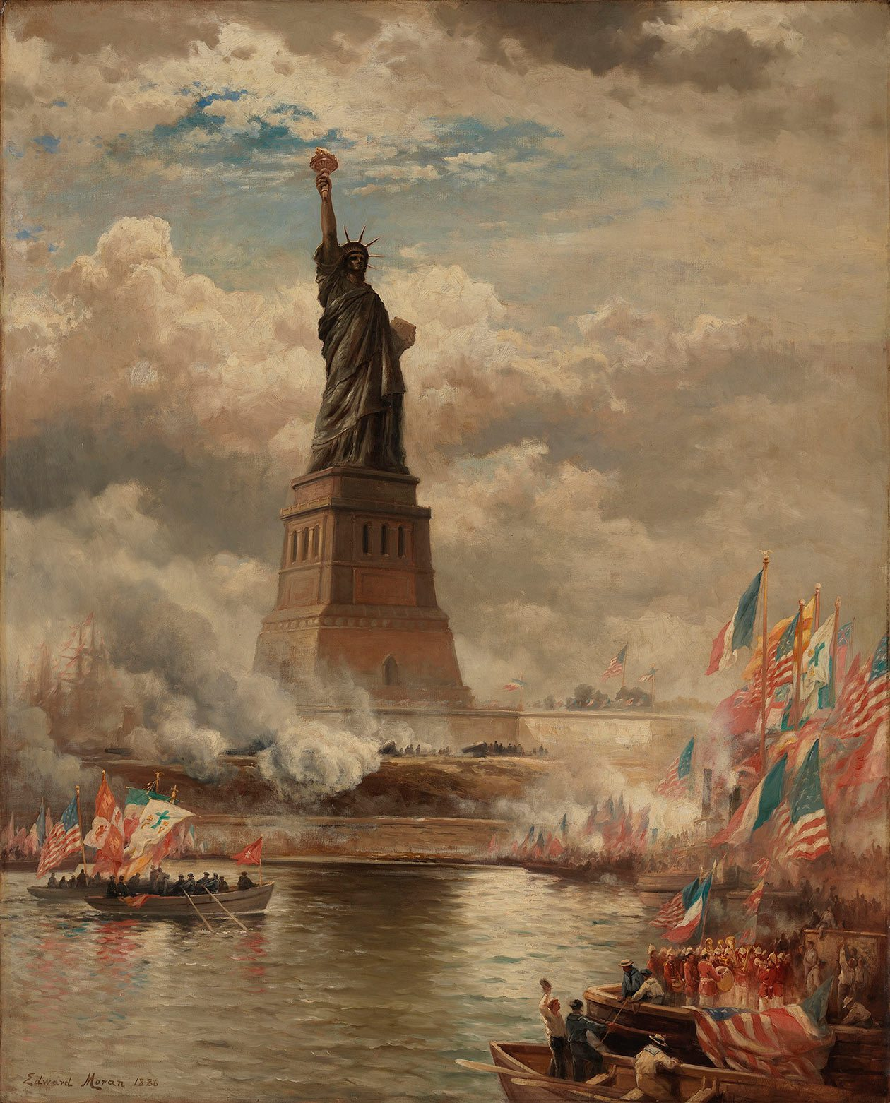 Oil Painting Of Statue Of Liberty