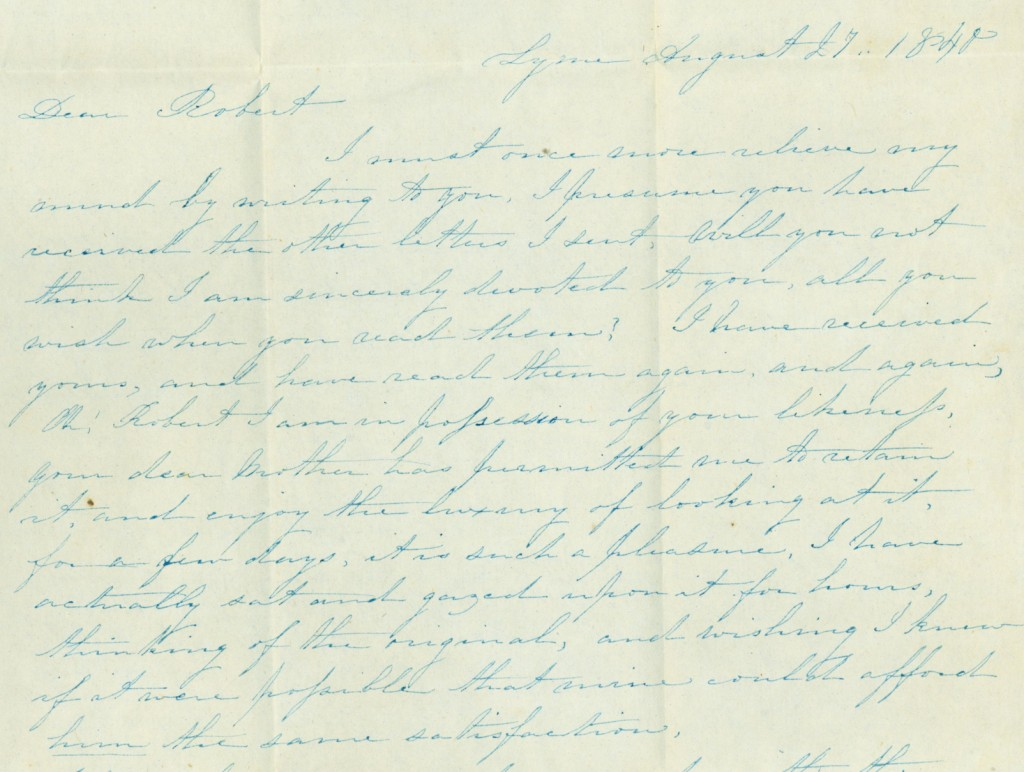 August 27 1840 letter excerpt Helen to Robert Griswold copy