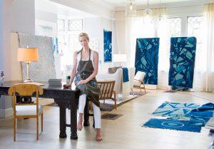 Cordsen in her studio by Louie Rousso
