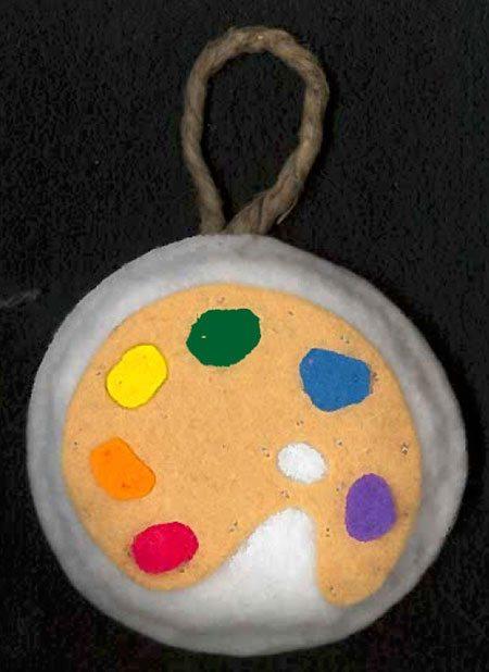 Felt Artist Palette Ornament