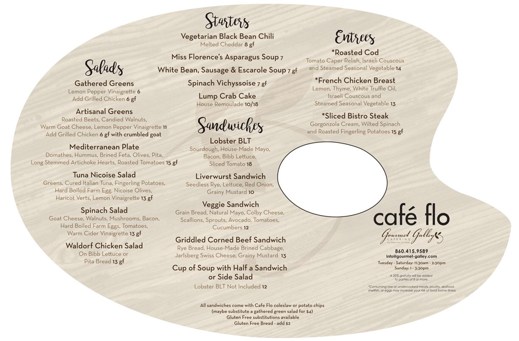cafe flo menu