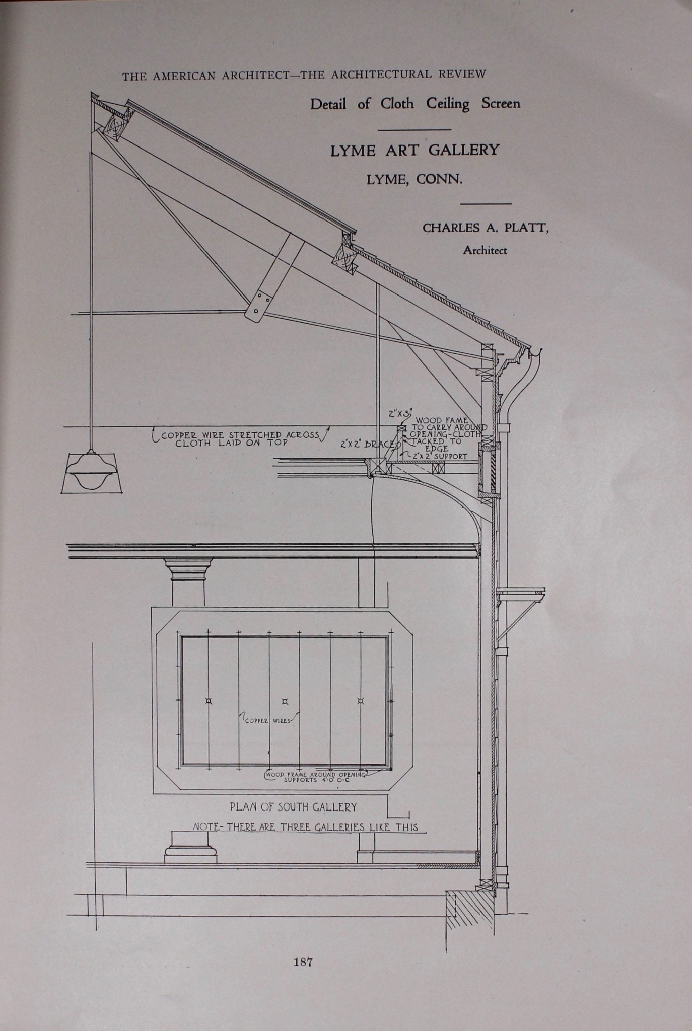 Glimpses A Look At The Lyme Art Association Florence Griswold Museum Schematic Wiring Diagram September 2010 Section Of Gallery From American Architect And Architectural Review 14 1921 Lhsa Fgm