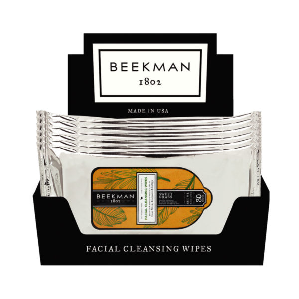 Beekman Sweet Grass Face Wipes