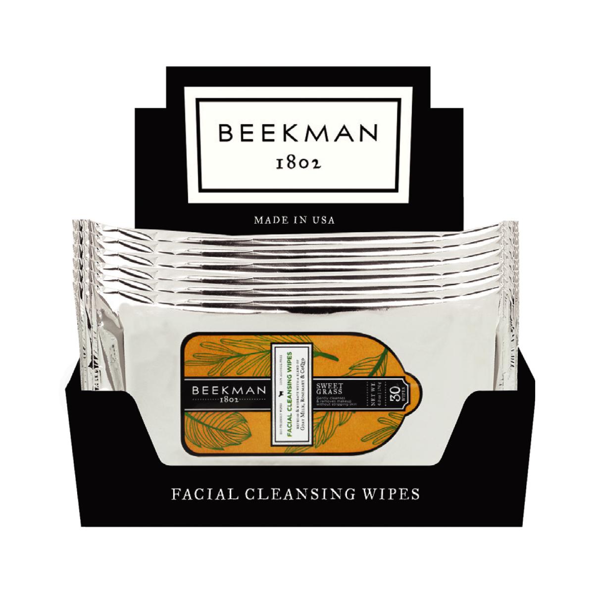 Beekman Sweet Grass Face Wipes