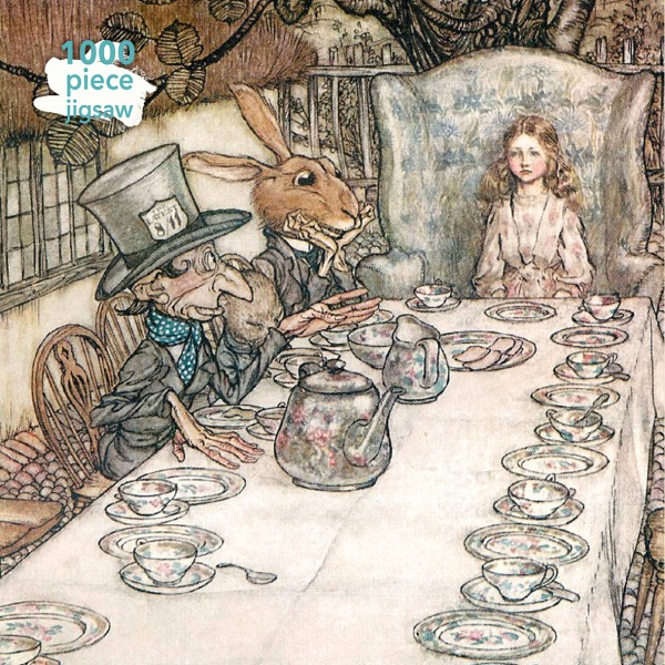 Arthur Rackham Alice in Wonderland Tea Party 1000 Piece Jigsaw Puzzle