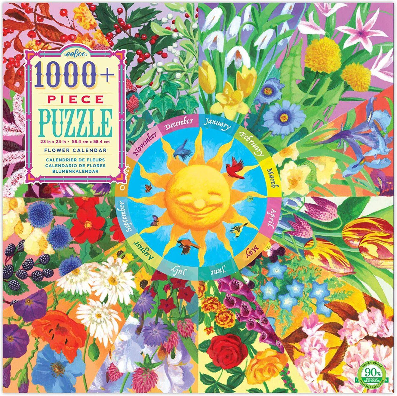 Flower Calendar 1008 Piece Jigsaw Puzzle