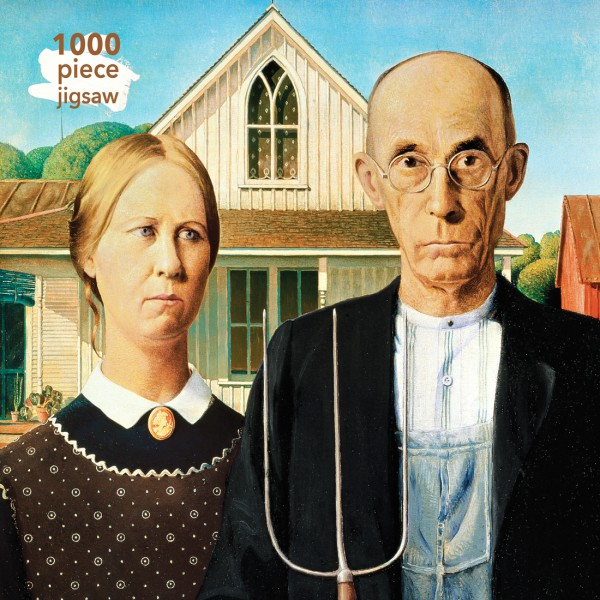Grant Wood: American Gothic 1000 Piece Jigsaw Puzzle