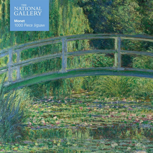 National Gallery Monet Bridge over Lily Pond 1000 Piece Jigsaw Puzzle