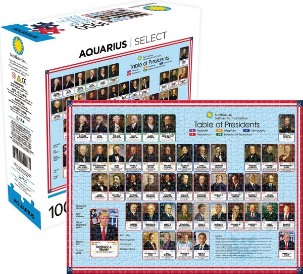 Smithsonian Table of Presidents 1000 Piece Jigsaw Puzzle