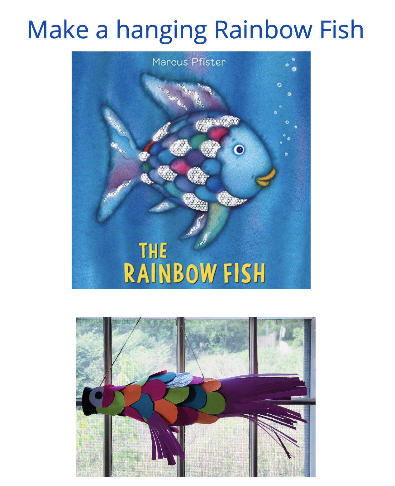 Hanging Rainbow Fish