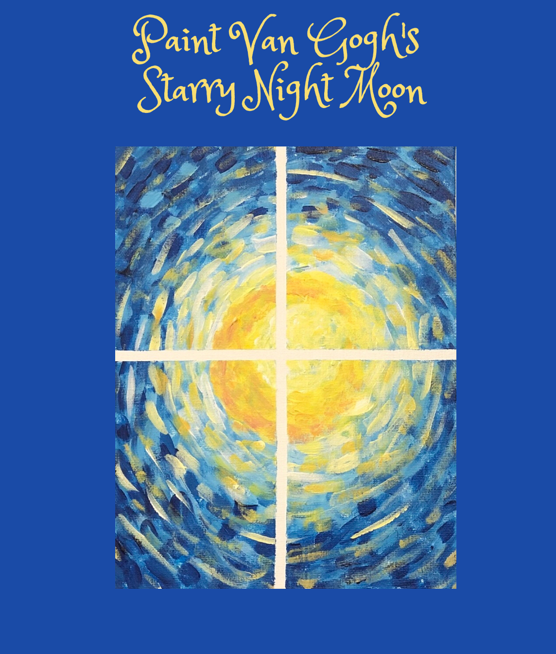 Paint Van Gogh's Starry Night Moon