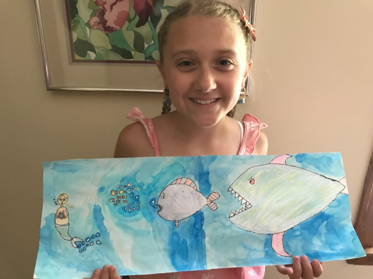 For her Fox Chase drawing, Cali chose fish.