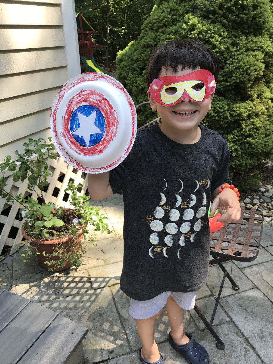 Eli really got into the superhero spirit!