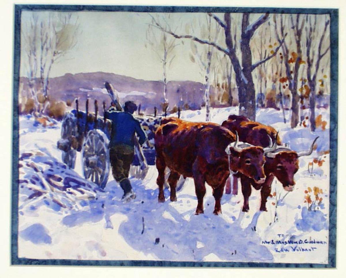 Volkert watercolor from Goodman Presentation Case