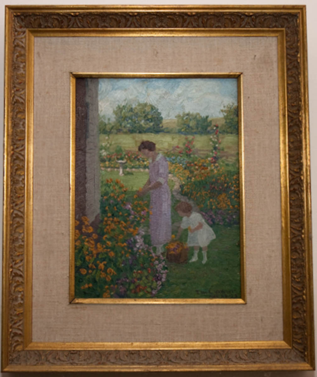Family Portrait—Ruth Volkert Middleton and Daughter Ruth in Garden