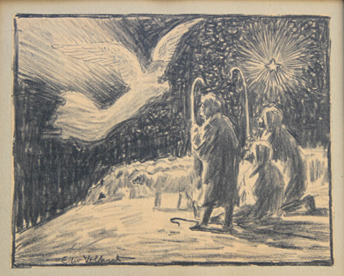 Untitled [Angel Appearing to Shepherds with Star]
