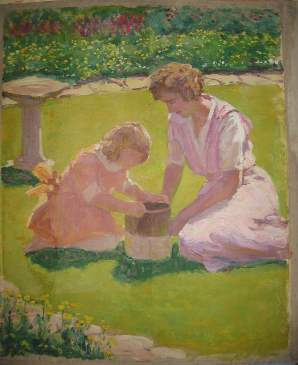 Untitled [Family Portrait]--Woman and Girl in Garden