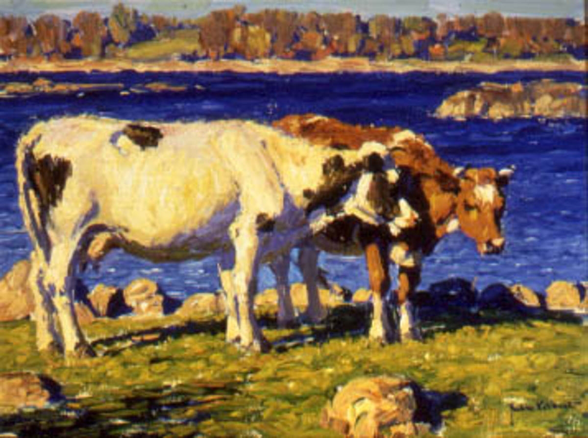 Holsteins and Guernseys by Water