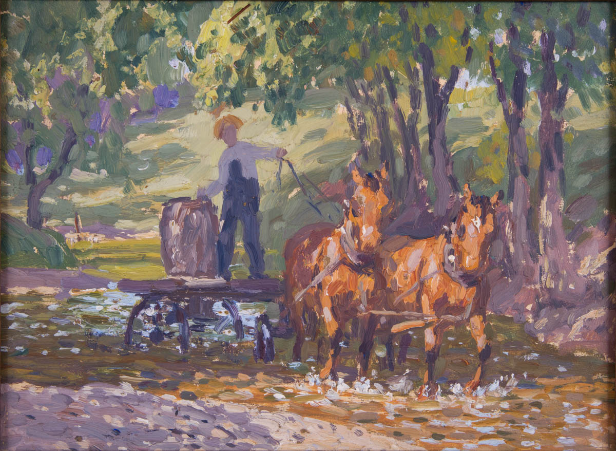 Field Sketch for Farmer with his Horses