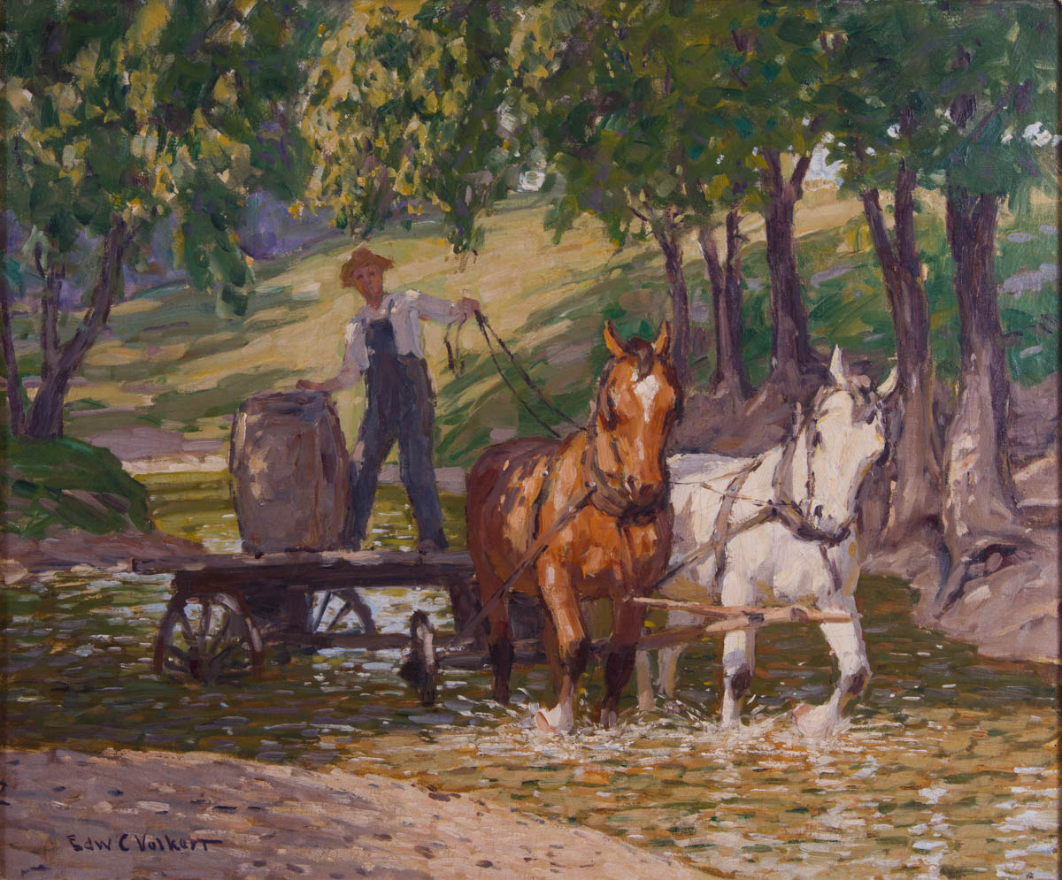 Farmer with his Horses