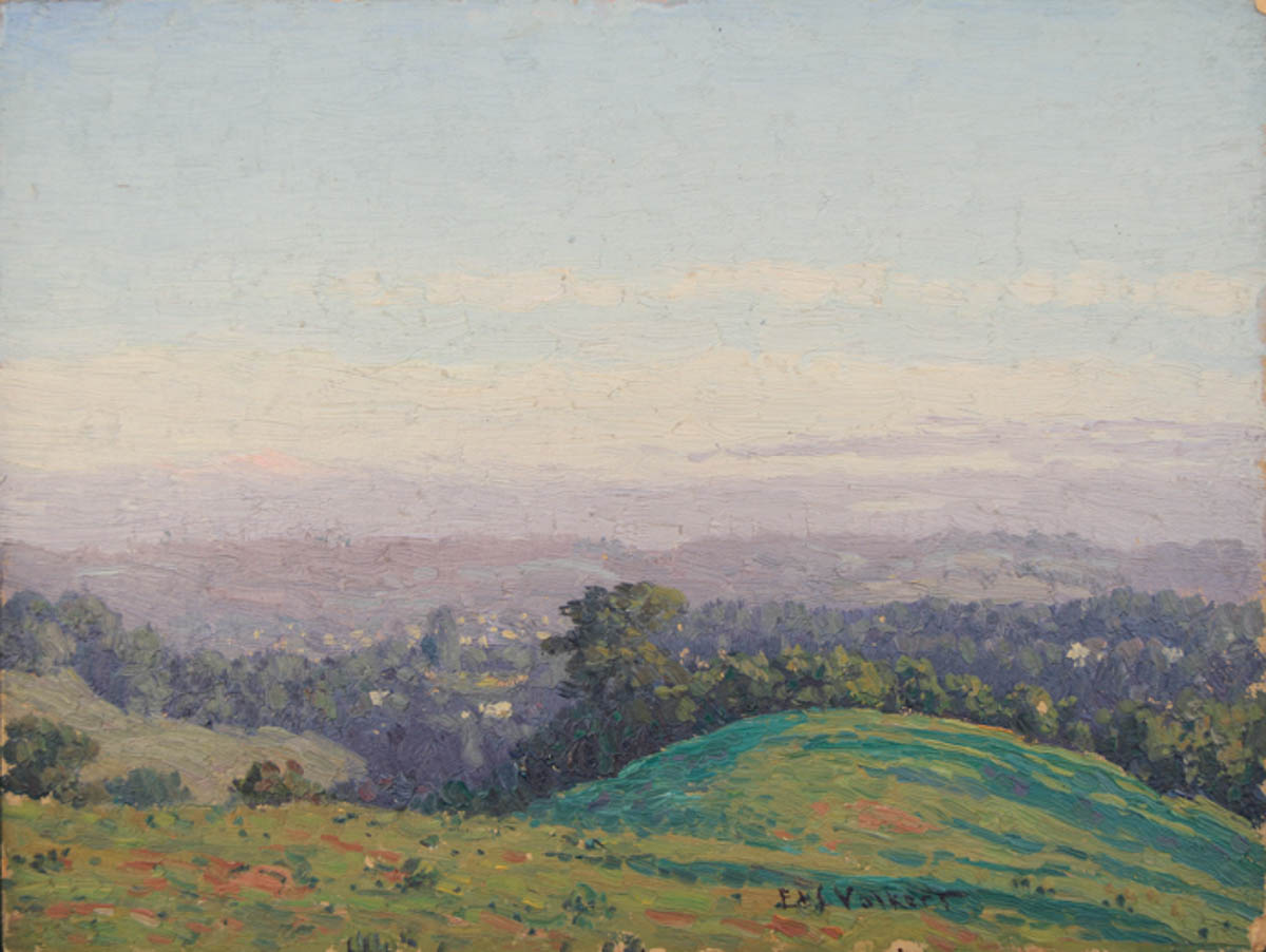 Untitled [View overlooking farmland]