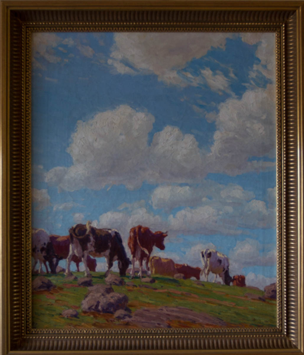 Untitled [Cows against large sky]