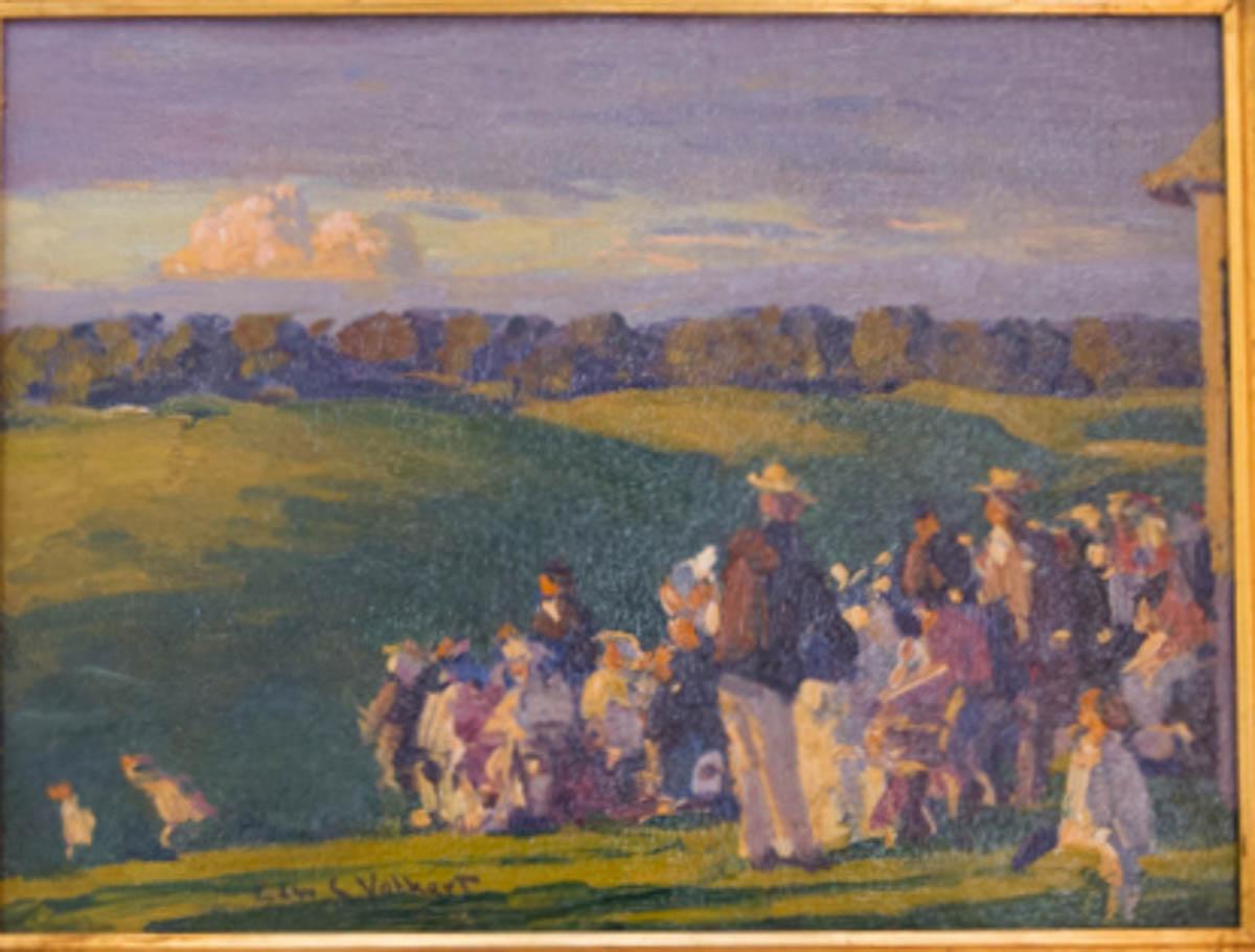 Untitled [Spectators on a hillside]