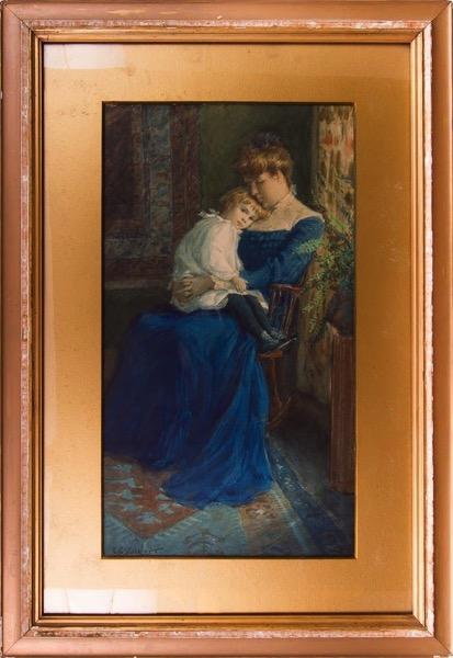 Jessica Volkert holding Ruth Volkert [later Ruth Middleton]