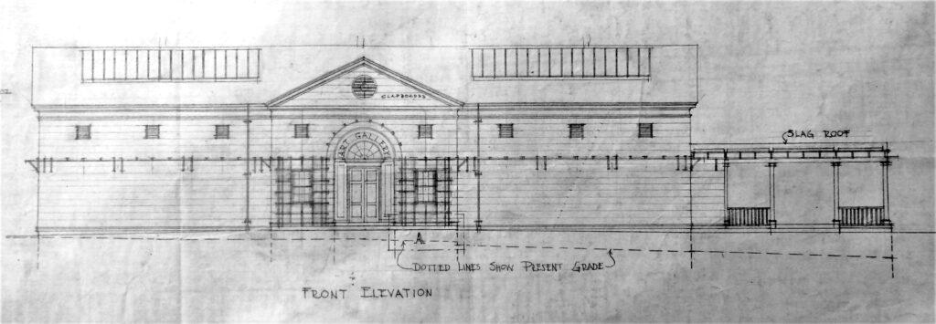 Lyme Art Association Elevation Drawing
